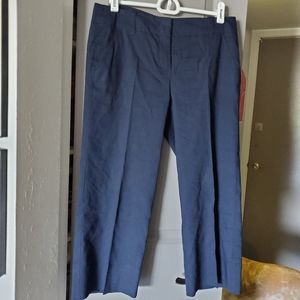 Cropped Navy Theory Dress Pants